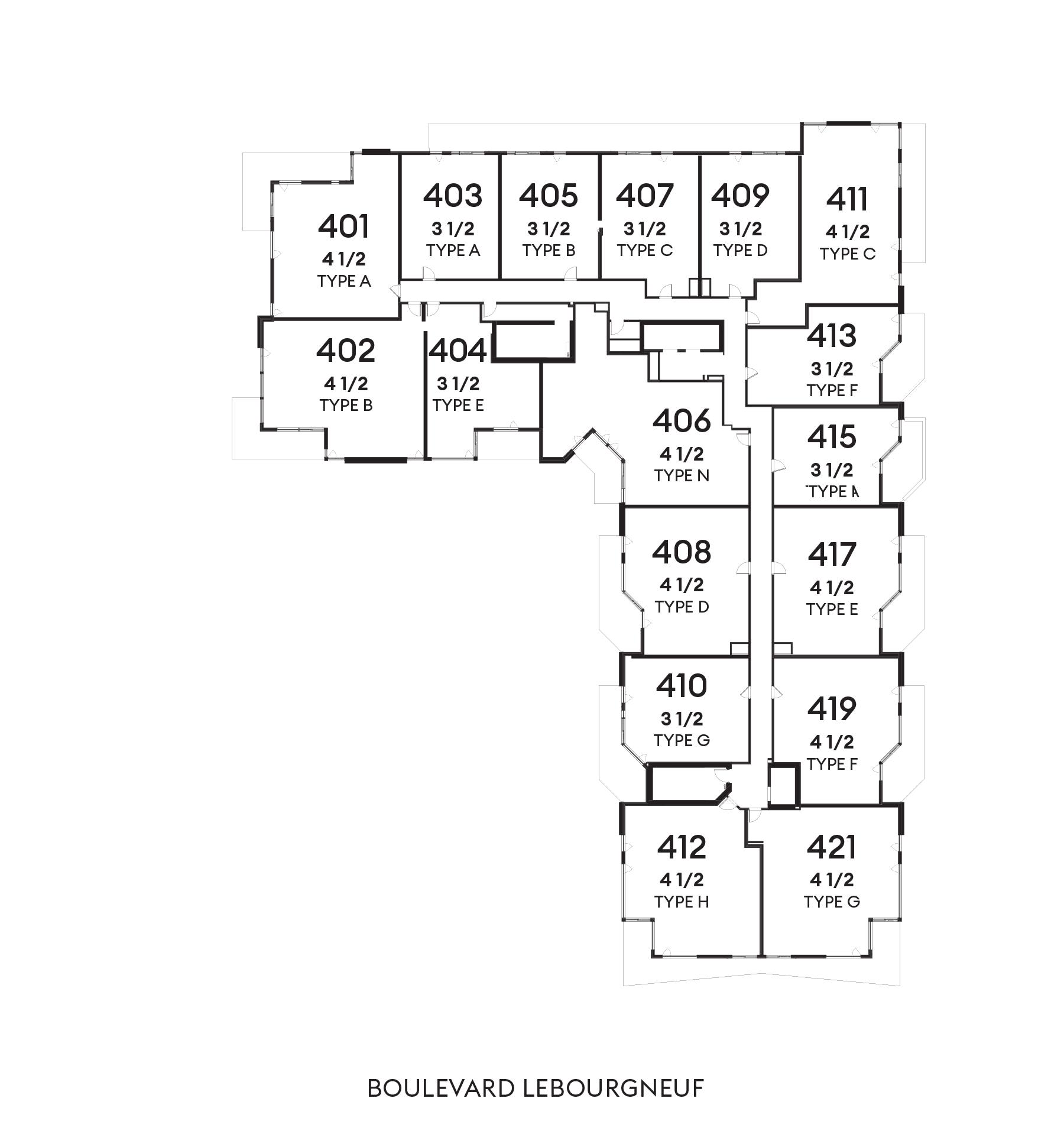 Le Huppé - 4e étage